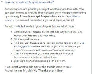 acquaintancelist